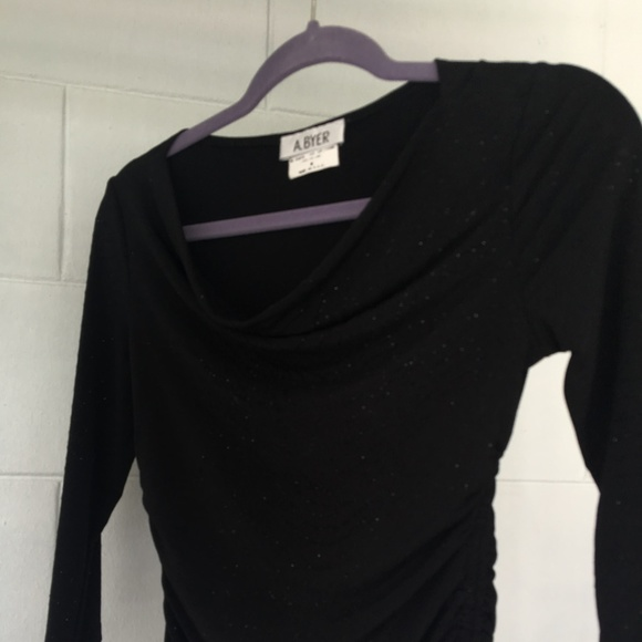 A. Byer Tops - A. BYER Blouse, Medium, Black